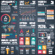 Infographic Vector Tools 2 Black Background - GraphicRiver Item for Sale