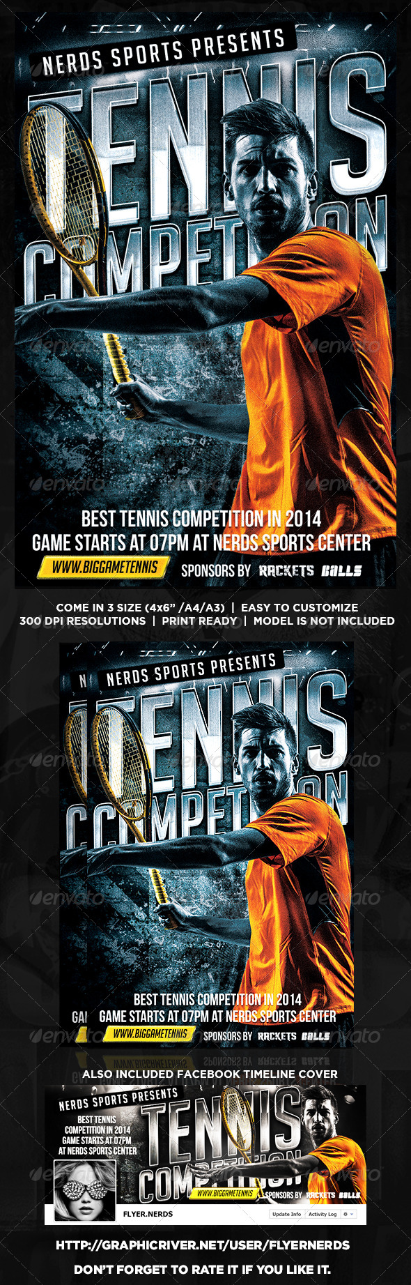 GraphicRiver Tennis Competition Flyer 8769919
