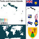 Map of Turks and Caicos Islands - GraphicRiver Item for Sale