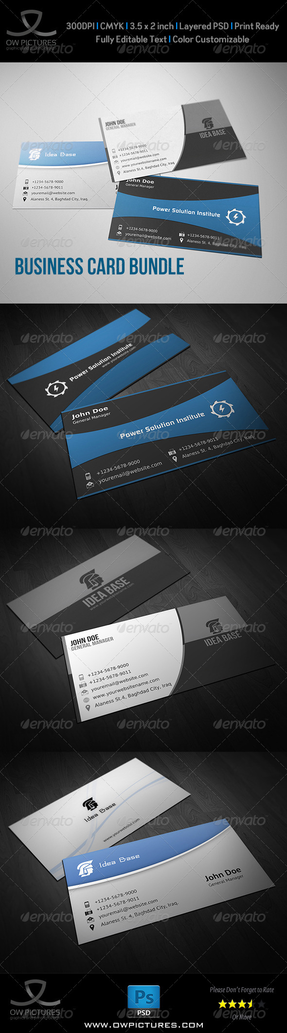 GraphicRiver Corporate Business Card Bundle Vol.4 8770475