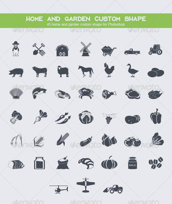GraphicRiver 45 Home and Garden Custom Shape 8770639