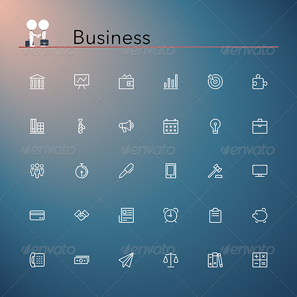 GraphicRiver Business Icons 8770677