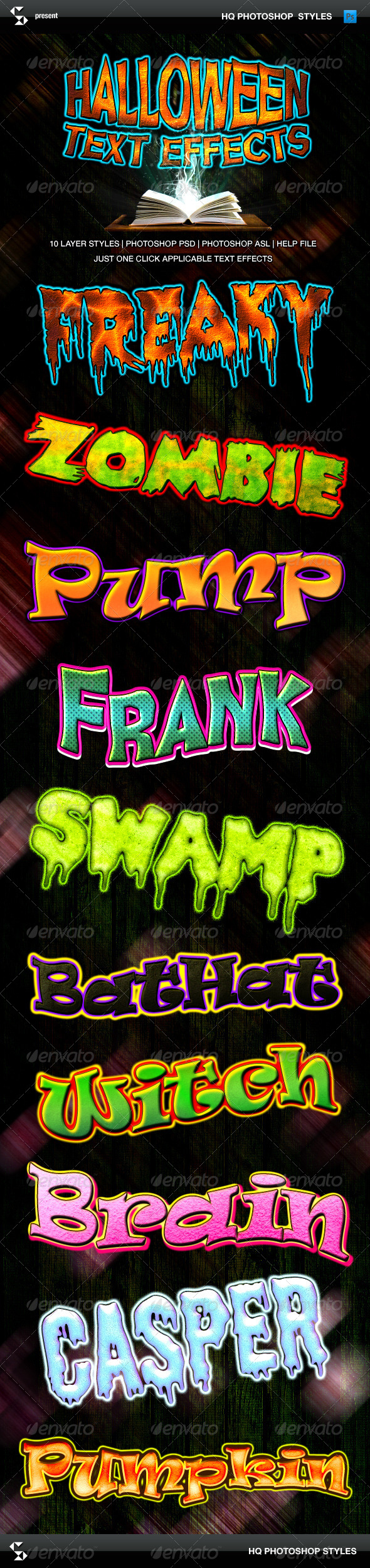 GraphicRiver Halloween Text Effects Cartoon Horror Styles 8770691