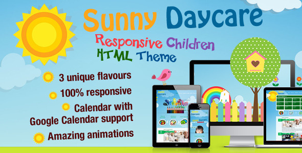 ThemeForest Daycare Responsive Kindergarden HTML Template 8745382