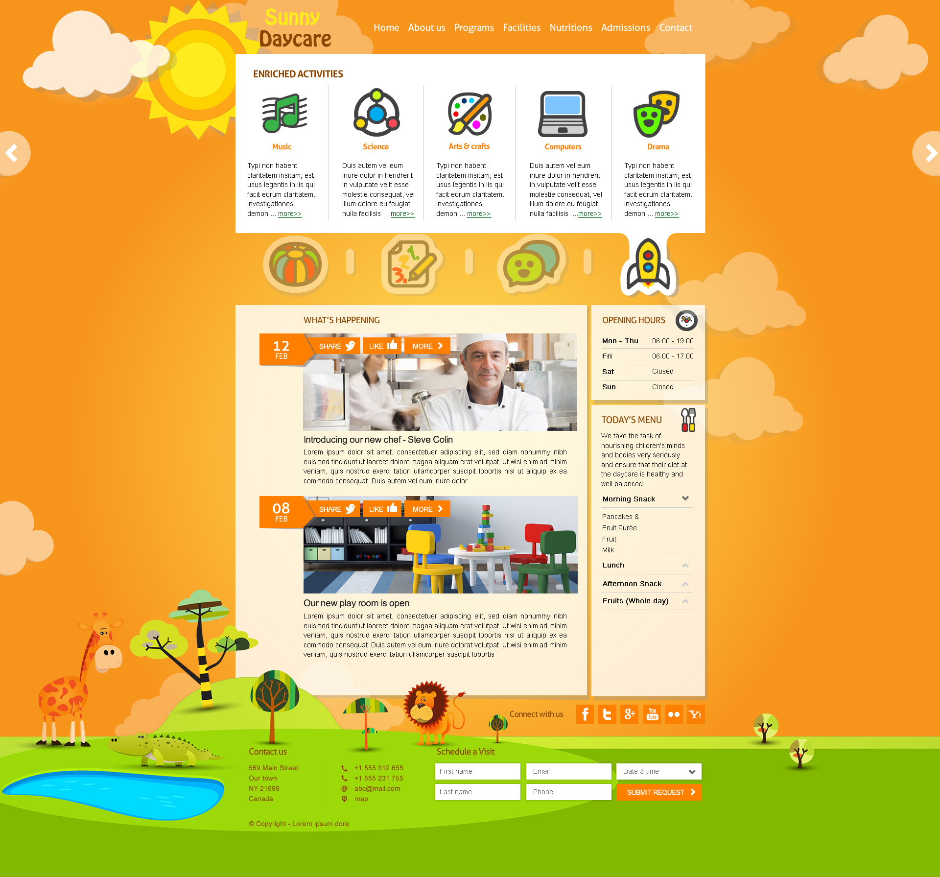 daycare responsive kindergarden html template by themeplayers daycare responsive kindergarden html template