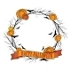 Vector Halloween Wreath 1 - GraphicRiver Item for Sale