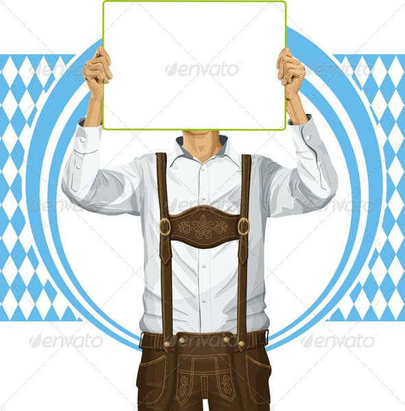 GraphicRiver Man With Write Board On Oktoberfest 8770872