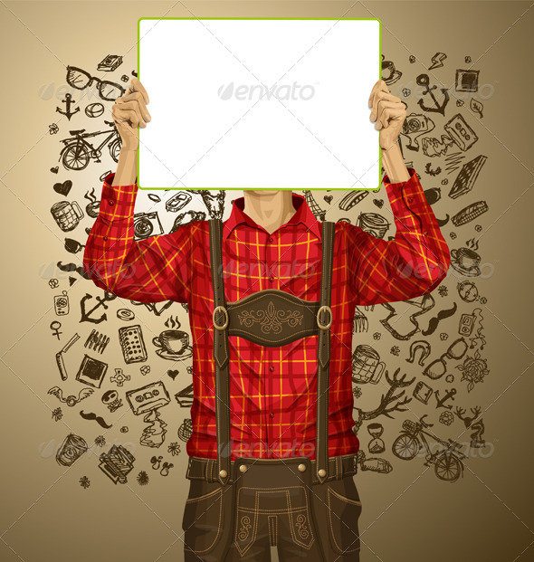 GraphicRiver Man With Write Board On Oktoberfest 8770880