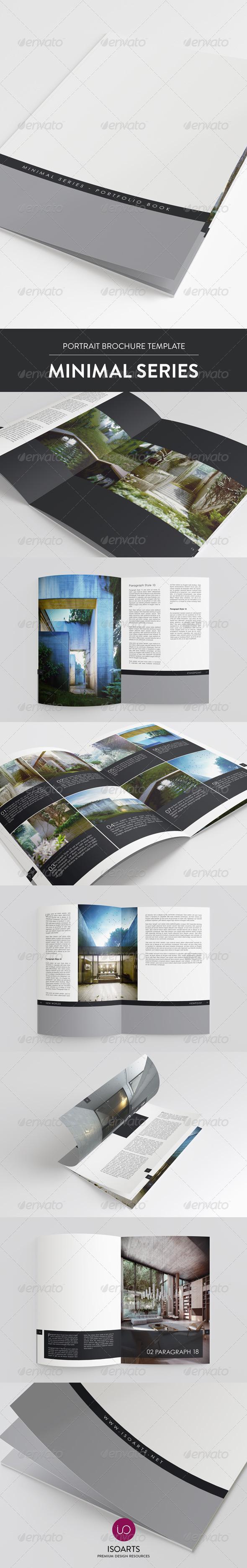Minimal Series • Portrait Brochure Template - Portfolio Brochures