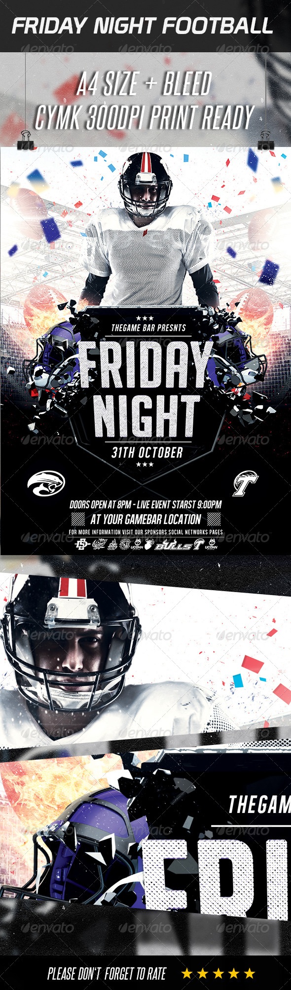 GraphicRiver FootBall Game Flyer Template 8771028