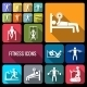 Workout Training Icons Set Flat - GraphicRiver Item for Sale