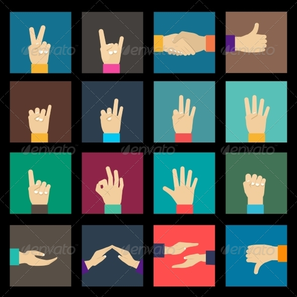GraphicRiver Hands Icons Set 8771307