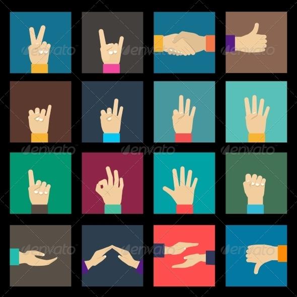 GraphicRiver Hands Icons Set 8771307