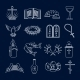 Christianity Icons Set Outline - GraphicRiver Item for Sale