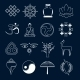 Buddhism Icons Set Outline - GraphicRiver Item for Sale