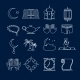 Islam Icons Set Outline - GraphicRiver Item for Sale