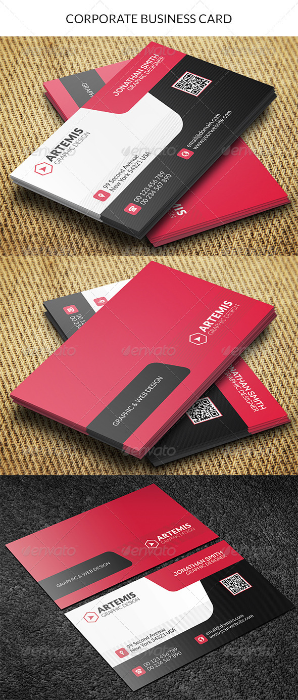 GraphicRiver Corporate Business Card 8771405