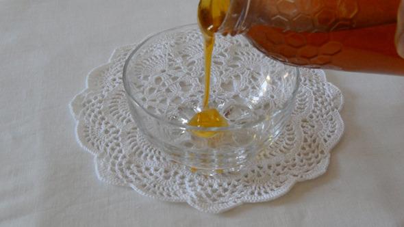Honey Poured Inside a Bowl