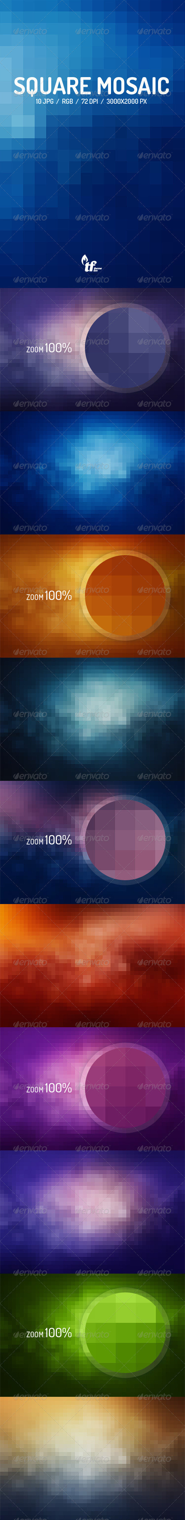 GraphicRiver Square Mosaic Backgrounds 8771417