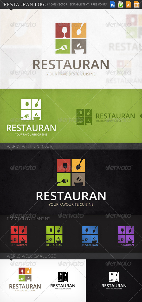 GraphicRiver Restauran Logo 8771481