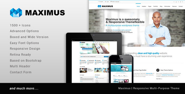 ThemeForest Maximus Multipurpose Business Template 8771500