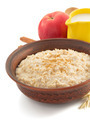 bowl of oatmeal  on white - PhotoDune Item for Sale