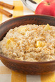 bowl of oatmeal on tablecloth - PhotoDune Item for Sale