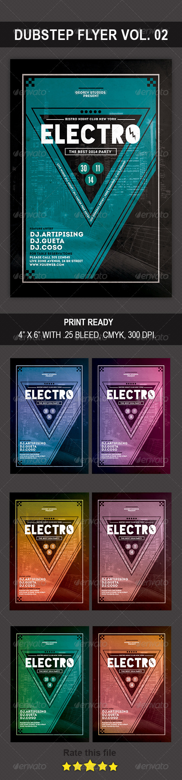 GraphicRiver Electro Flyer 8771691