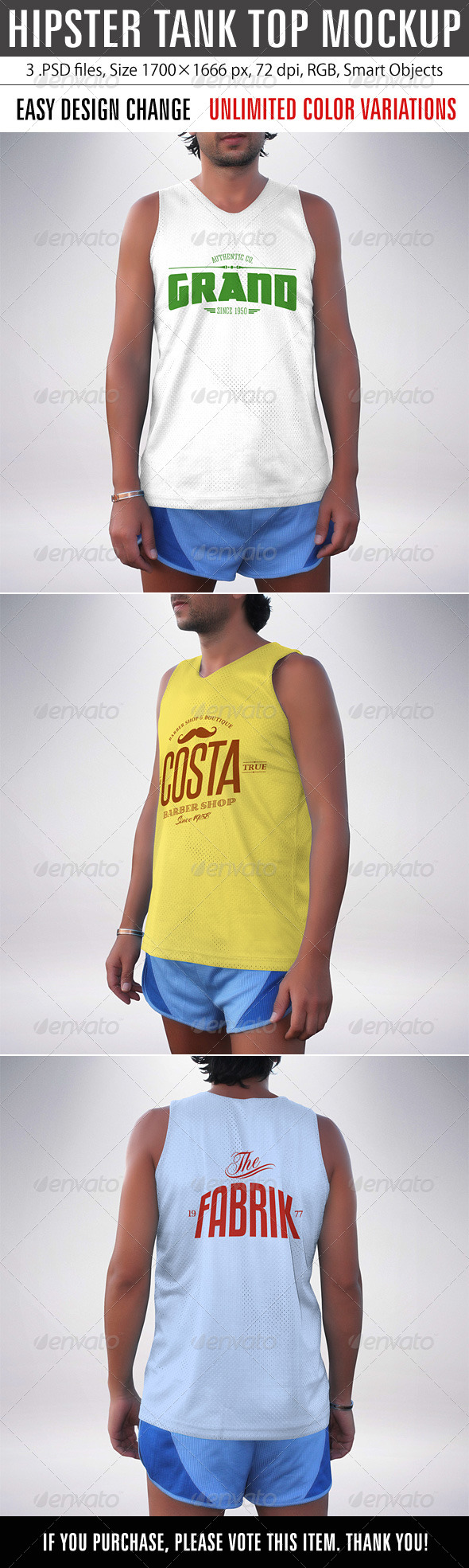 GraphicRiver Hipster Tank Top Mockup 8762044