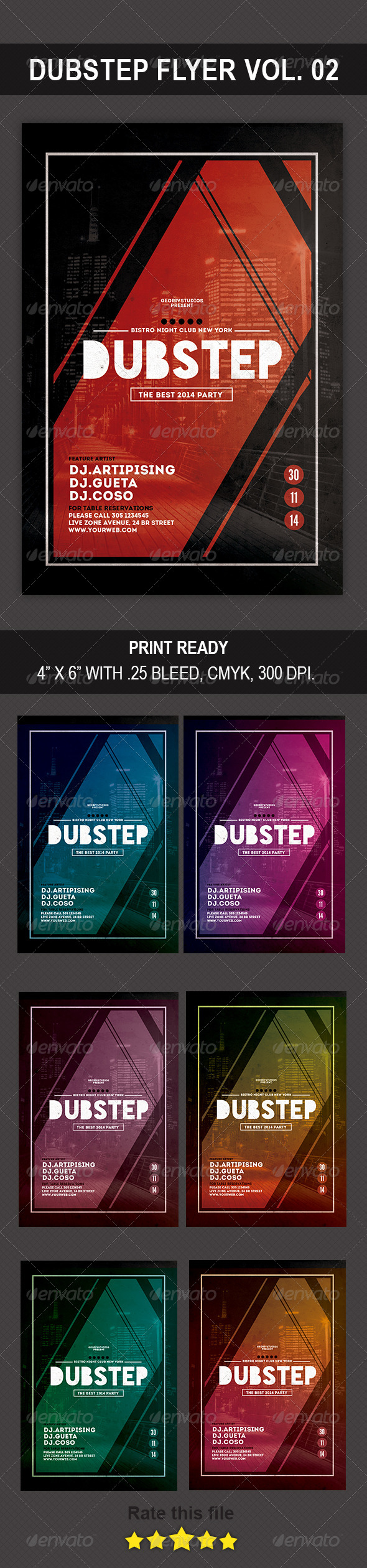 GraphicRiver Dubstep Flyer Vol 02 8771834