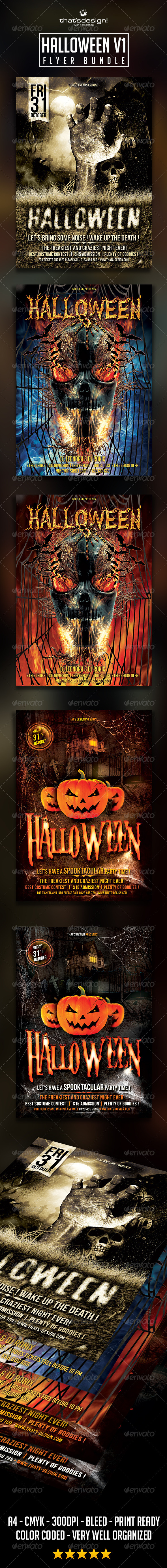 GraphicRiver Halloween Flyer Bundle V1 8772016