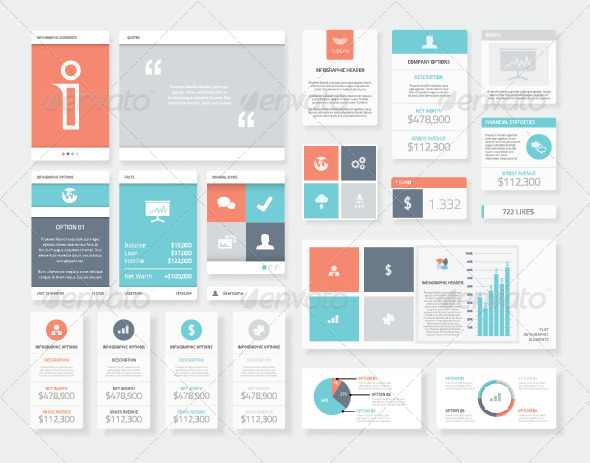 GraphicRiver Clean User Interface Styled Infographics 8772000