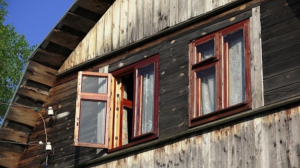 Window of a Wooden House