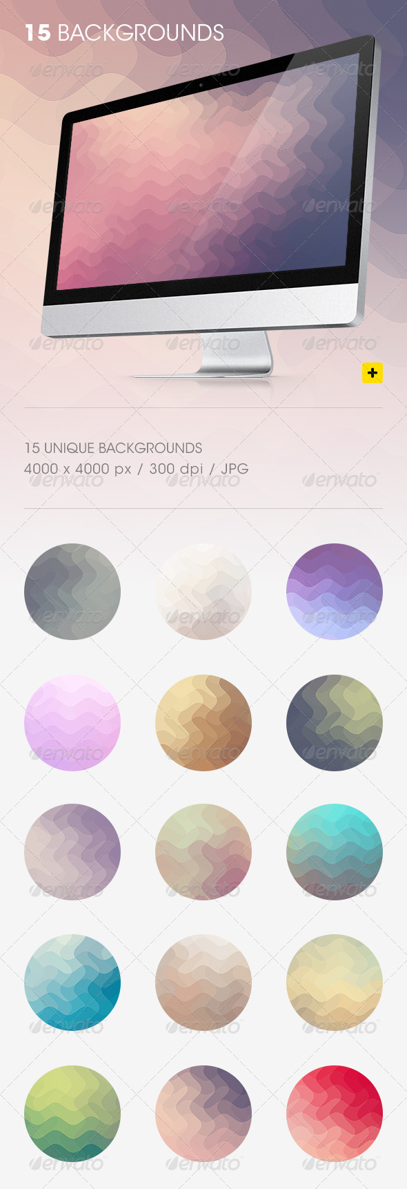 GraphicRiver Wavy Pixels Backgrounds 8772258