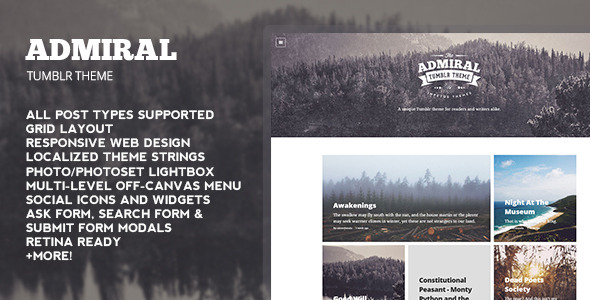 ThemeForest Admiral Tumblr Theme 8772674