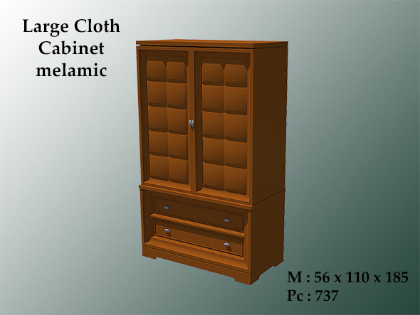 3DOcean Large Cloth Cabinet Melamic 8772796
