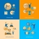 Time Management Flat Composition Icons Set - GraphicRiver Item for Sale