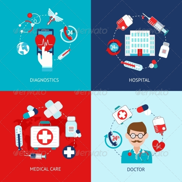 GraphicRiver Medical Icons Flat Set 8772911