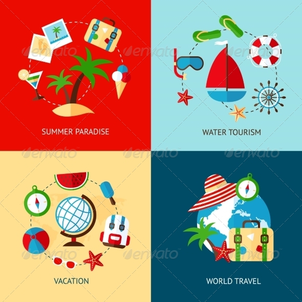 GraphicRiver Holiday Icons Flat Set 8772915