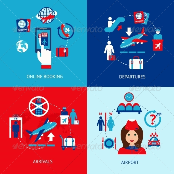 GraphicRiver Airport Icons Flat Set 8772918