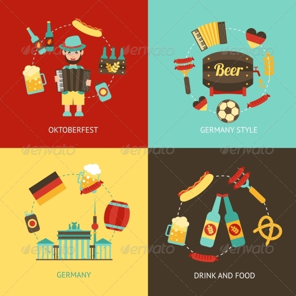 GraphicRiver Germany Travel Flat Set 8772920
