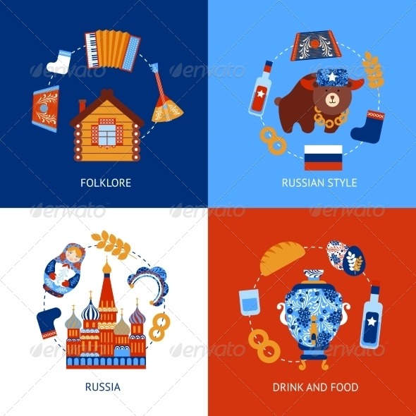 GraphicRiver Russia Travel Flat Set 8772923