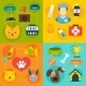 Veterinary Icons Set Flat - GraphicRiver Item for Sale
