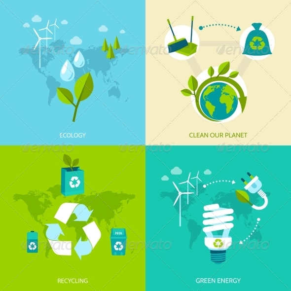 GraphicRiver Ecology and Recycling Set 8772929