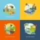 Pollution Icons Flat - GraphicRiver Item for Sale