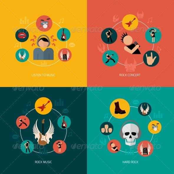 GraphicRiver Rock Composition Flat 8772940