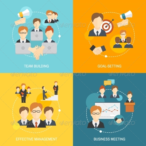 GraphicRiver Teamwork Icons Flat 8772954
