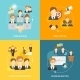 Teamwork Icons Flat - GraphicRiver Item for Sale