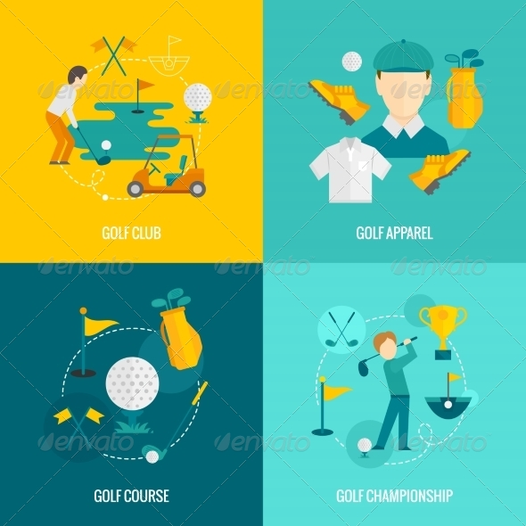 GraphicRiver Golf Icons Flat 8772959