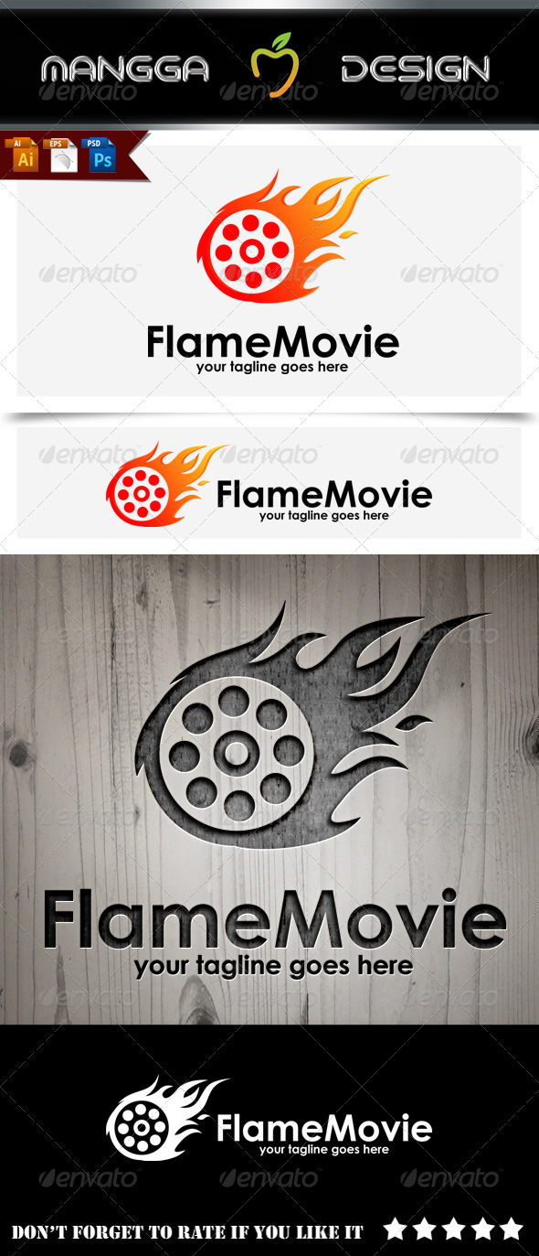 GraphicRiver Flame Movie Logo 8772975